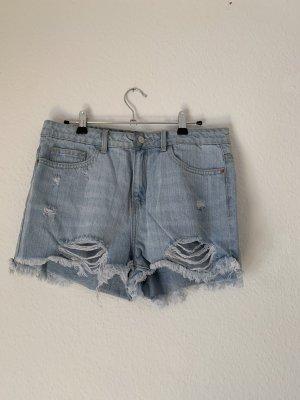 Tally Weijl Short en jean bleu clair