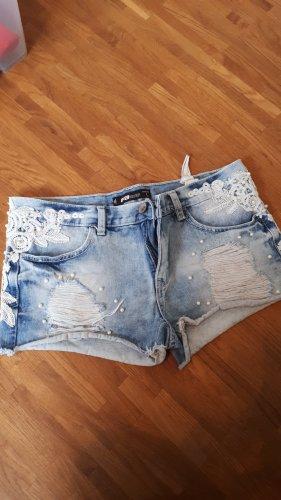 FB Sister Short en jean bleu azur