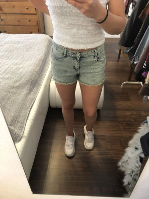 Denim Shorts lime-green-mint