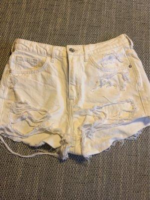 Jeansshorts H&M, weiß, Größe 38