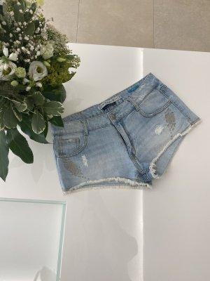 Jeansshorts Hotpants Shorts Hellblau blau von zara in 38 / M