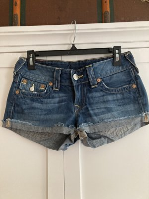 True Religion Short en jean bleu