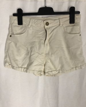 jeansshorts / kurze hose in creme, gr. 40, stretch