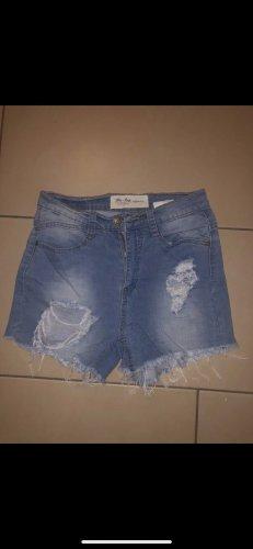 Blue Rags Denim Shorts steel blue