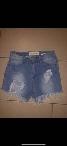 Blue Rags Pantaloncino di jeans blu acciaio