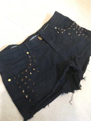 Jeansshorts mit Nieten