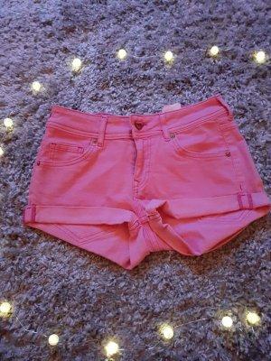 Jeansshorts Shorts pink von H&M Divided Größe 34