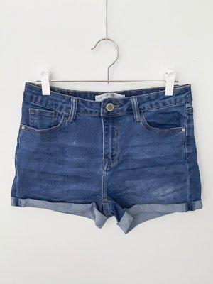 Short en jean bleu-bleu foncé coton