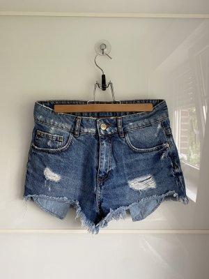Mango Short en jean bleu foncé-bleu