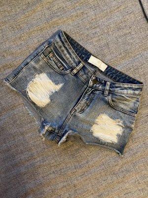 Pieces Denim Shorts slate-gray