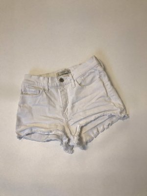 Jeansshorts weiß Abercrombie & Fitch