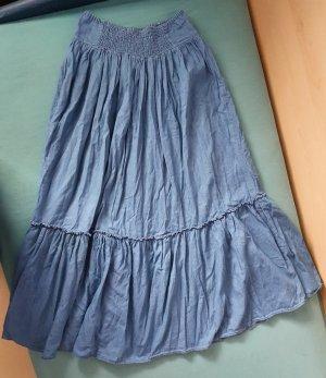C&A Broomstick Skirt cornflower blue cotton