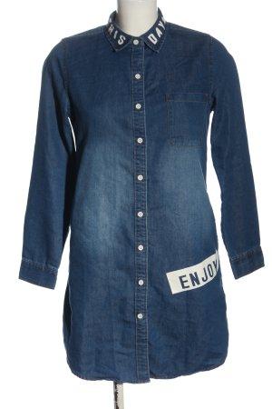 JEANSWEST Spijkershirt blauw prints met een thema casual uitstraling