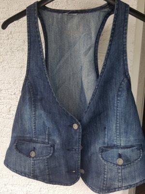 Gilet en jean bleu