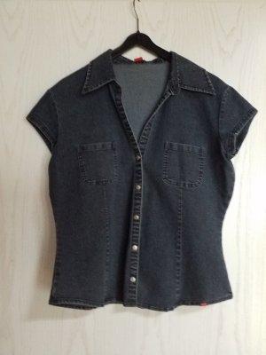 Esprit Smanicato jeans blu fiordaliso Cotone