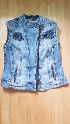 Gilet en jean bleu clair