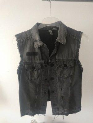 H&M Denim Vest dark grey