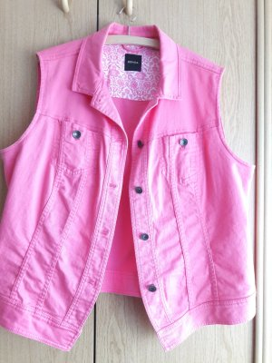 Bonita Denim Vest pink