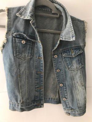 Jeansowa kamizelka błękitny