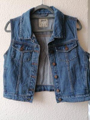 Denim & сo Gilet en jean bleu acier