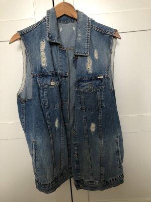 Smanicato jeans azzurro