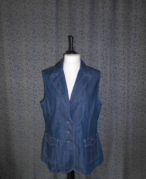 Brookshire Denim Vest dark blue cotton