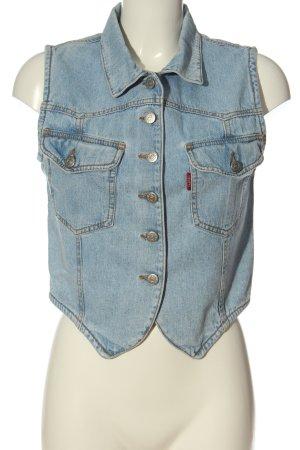 Jeansweste blau Casual-Look