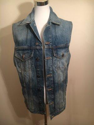 Zara Smanicato jeans azzurro