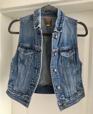 American Eagle Outfitters Denim Vest blue-dark blue