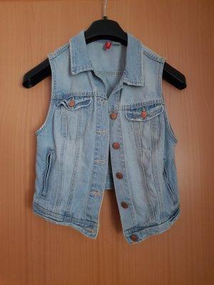 H&M Divided Gilet en jean bleu azur