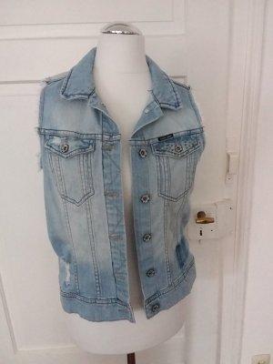Garcia Jeans Denim Vest light blue