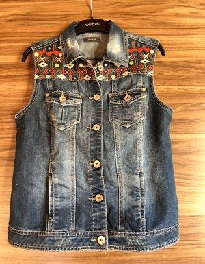 C&A Smanicato jeans blu-rosso