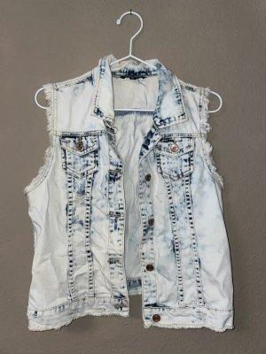 Tally Weijl Gilet en jean blanc-gris clair