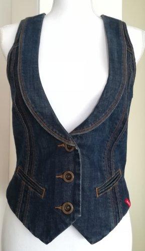 edc by Esprit Gilet en jean bleu foncé