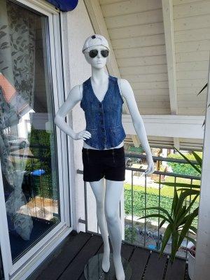 Blue Motion Jeansowa kamizelka niebieski