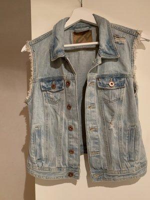 Fishbone Smanicato jeans blu acciaio-azzurro
