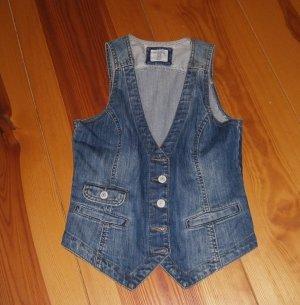 H&M L.O.G.G. Gilet en jean bleu acier