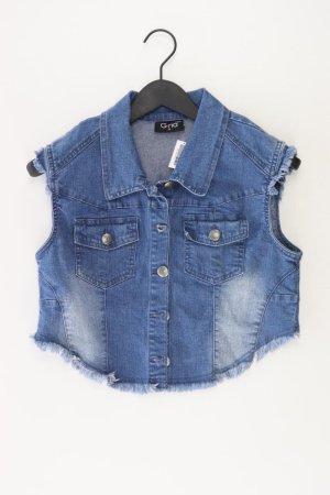 Gilet en jean bleu-bleu fluo-bleu foncé-bleu azur coton