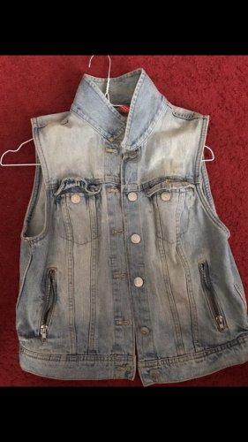 H&M Jeansowa kamizelka błękitny