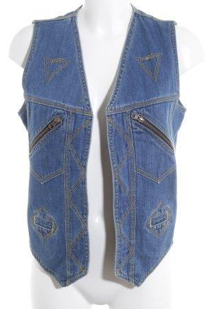 Gilet en jean bleuet style décontracté