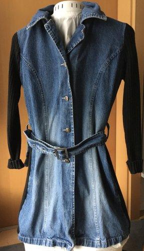 Authentic Style Spijkervest zwart-staalblauw Katoen