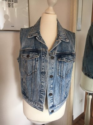 Jeansweste mit Waschung
