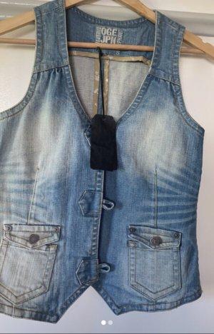 Unbekannte Marke Denim Vest azure