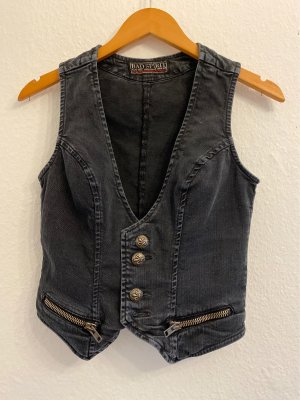 Bad Spirit Gilet en jean multicolore coton