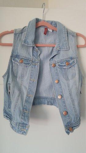 H&M Divided Smanicato jeans azzurro Cotone