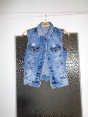 Mavi Gilet en jean bleu acier coton