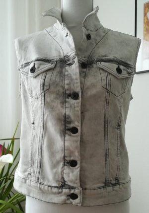 Jeansweste von Mavi, Gr. M/38, mit weiss-grauer Washing, Umlegekragen, Taschen