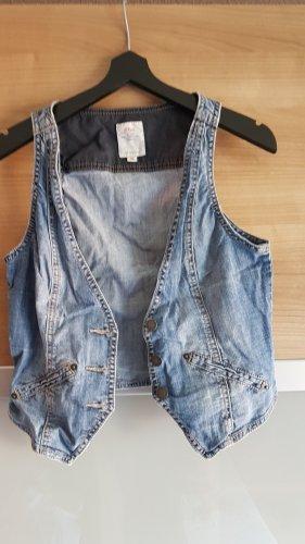 QS by s.Oliver Smanicato jeans blu acciaio-blu fiordaliso