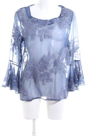 Jeff Gallano Schlupf-Bluse blau Elegant