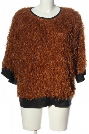 Jeff Gallano Knitted Sweater brown-black casual look